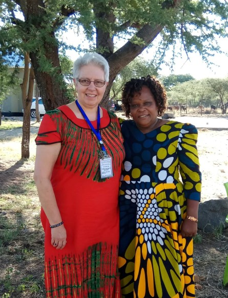 Cynthia with Rev. Rahel Axwesso, ELCT Director of Women's Work